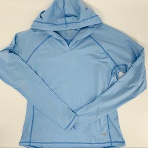 Mountain Hardwear hooded split front baselayer